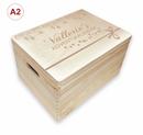 Adventskalender Holzbox, Gr. 3 m. Griffen Kiefer, incl. Auswahl-Lasergravur (A5) Bild 7
