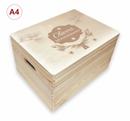 Adventskalender Holzbox, Gr. 3 m. Griffen Kiefer, incl. Auswahl-Lasergravur (A8) Bild 9
