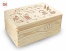 kl. Holz-Erinnerungsbox Schule Einschulung Gr. 1, incl. Auswahl-Lasergravur (S3)