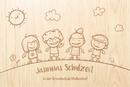 kl. Holz-Erinnerungsbox Schule Einschulung Gr. 1, incl. Auswahl-Lasergravur (S5) Bild 2