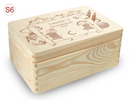 kl. Holz-Erinnerungsbox Schule Einschulung Gr. 1, incl. Auswahl-Lasergravur (S6)