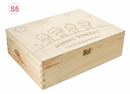 Holz-Erinnerungsbox Schule Einschulung für A4 incl. Auswahl-Lasergravur (S6)