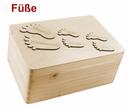 zur Geburt Holz-Geschenkbox Gr. 1  Kiefer incl.Applikationen n. Wahl (Eisenbahn) Bild 10