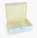 Holz-Schatulle Holz-Kassette geeignet für A4, Kiefer, weiß lackiert