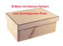 B-Ware, Aufbewahrungsbox/ Holzkiste m. Stülpdeckel ohne Grifflöcher Kiefer Gr. 1