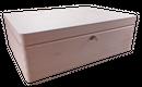 abschließbare Aufbewahrungsbox, Holzkiste ohne Grifflöcher Kiefer Gr. 2 (Schloss 1)