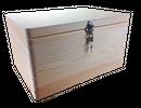 abschließbare Aufbewahrungsbox/ Holzkiste ohne Grifflöcher Kiefer, Gr. 3 (Schloss 2)