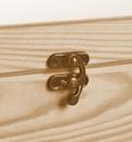 Aufbewahrungsbox/ Holzkiste Gr. 1 Kiefer unbehandelt mit Verschluss Bild 2