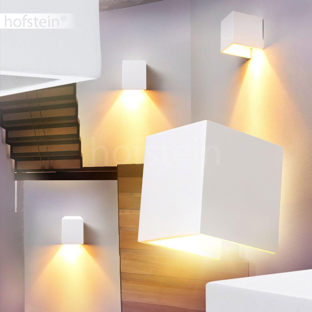 Design Flur Wand Leuchte Strahler Wohn Schlaf Zimmer Lampe Keramik weiß bemalbar