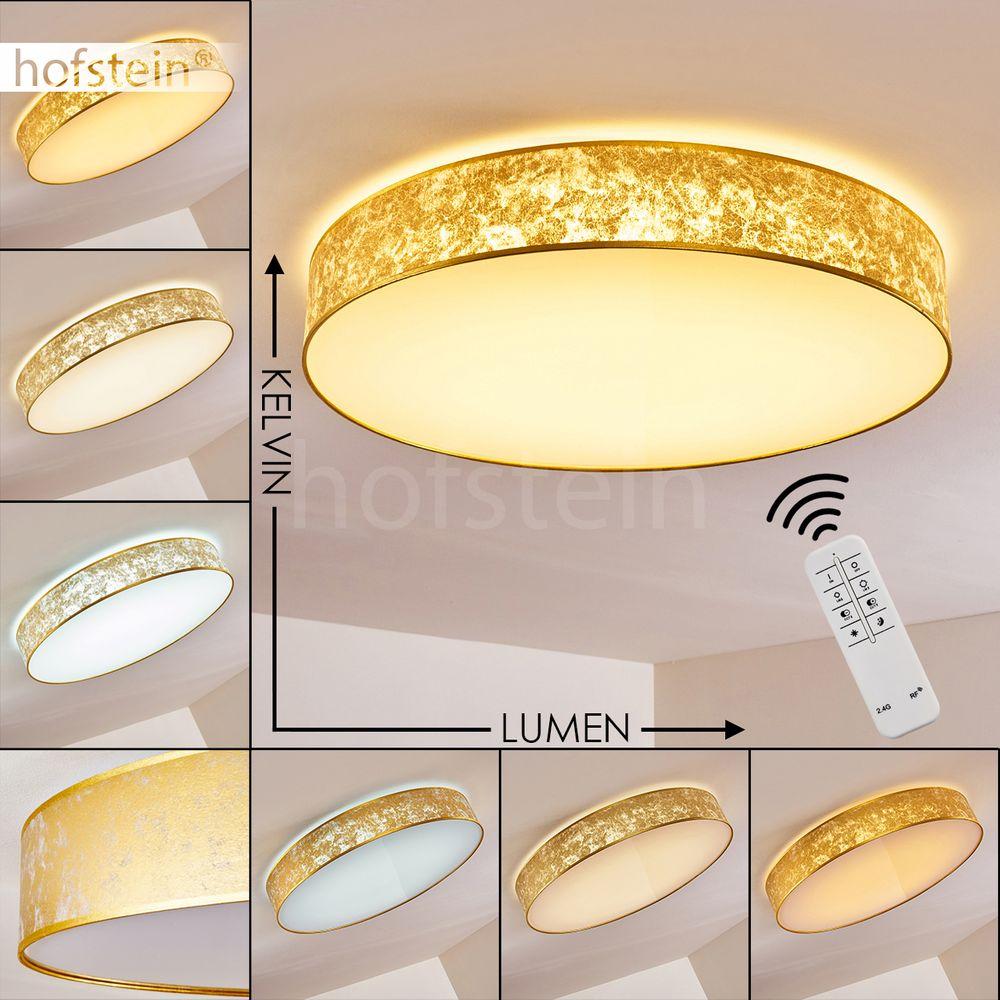 LED dimmbar Decken Leuchten Fernbedienung Wohn Schlaf Zimmer Lampen goldfarben