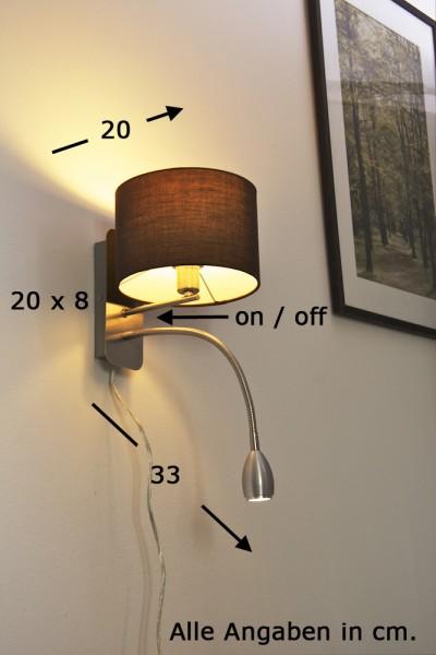 Applique murale LED Luminaire Liseuse moderne Lampe de corridor Spot mural 62537