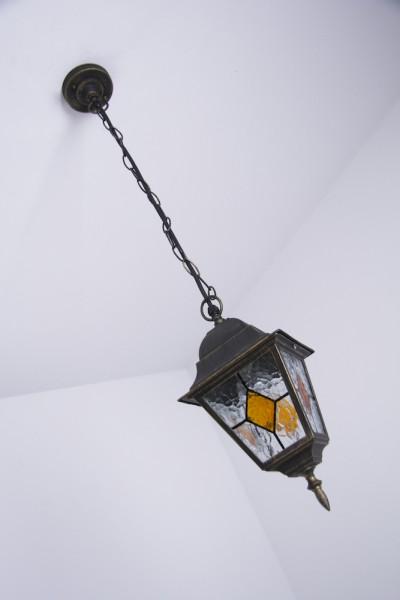 Hoflampe Außenleuchte Hängelampe Außenpendellampe Glas Außenlampe Hängeleuchte
