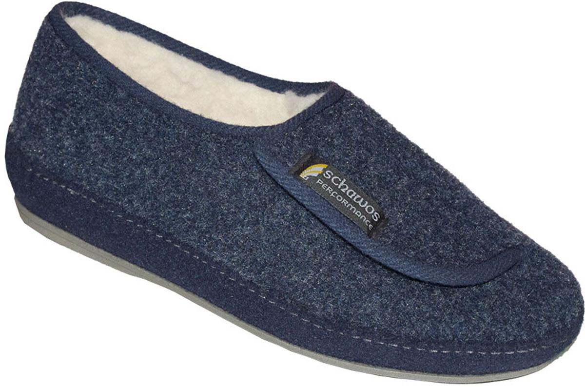 Schawos Herren Hausschuh 6072-8 marine blau