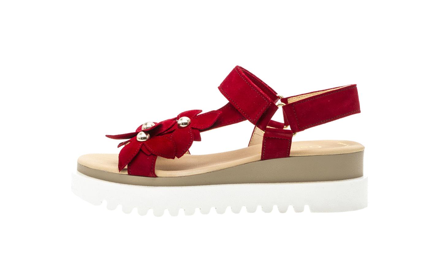 sports shoes 9064e 893e6 Gabor Damen Sandalette 23.611.15 rubin rot
