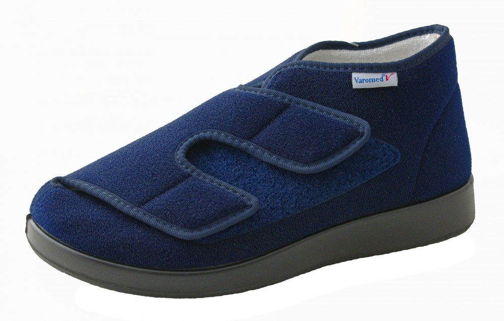 Varomed Verband- und Therapieschuh  Klettvelours 60920-25 Genuar marine blau