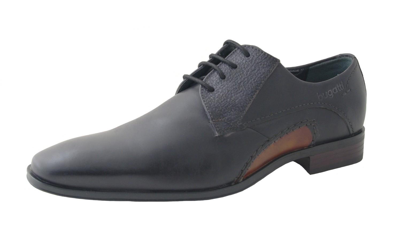 bugatti Herren Schnürschuhe Santi R3401-1W-145 dark grau