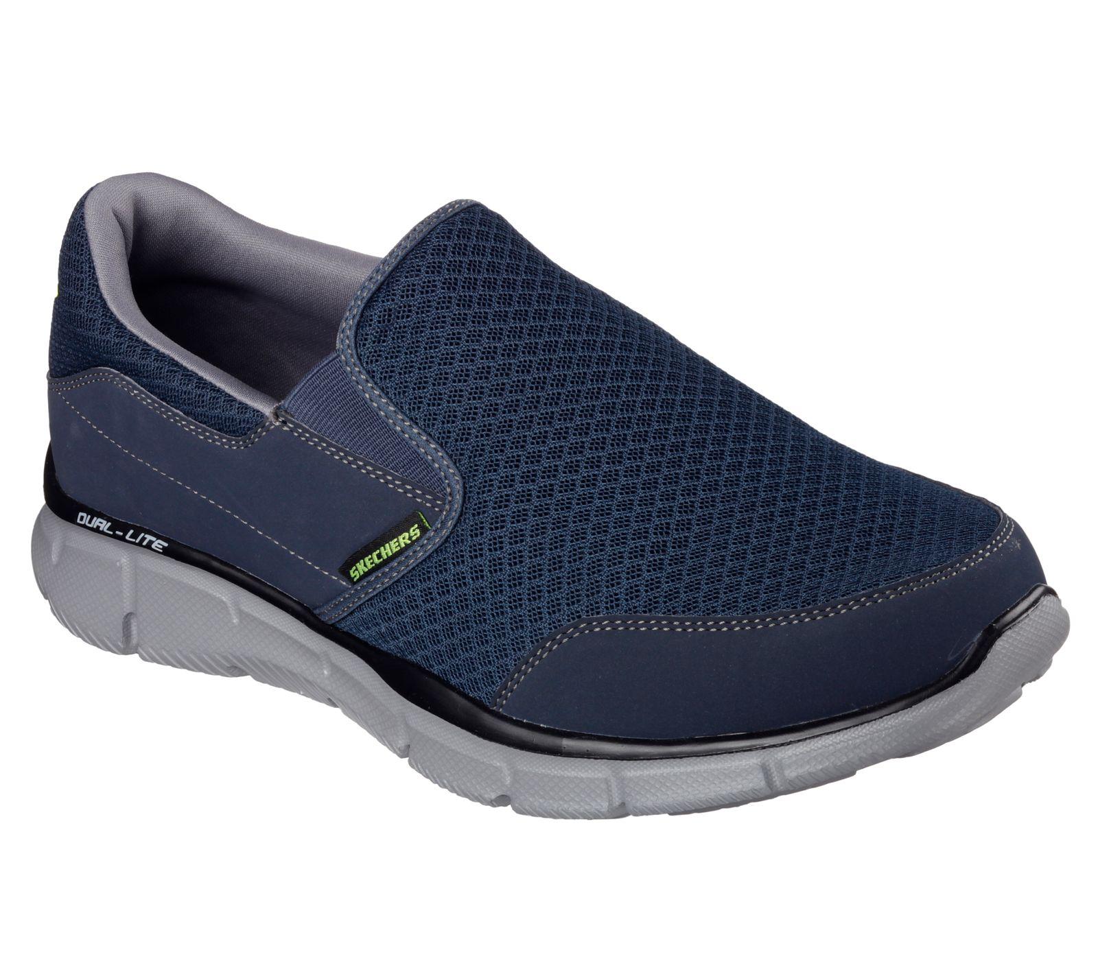 Skechers Herren Slipper EQUALIZER-PERSISTENT 51361/NVGY blau