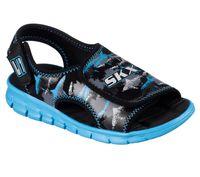 Skechers Kinder Sandale SYNERGIZE-QUICK CURRENT 92212L/BKBL schwarz/blau