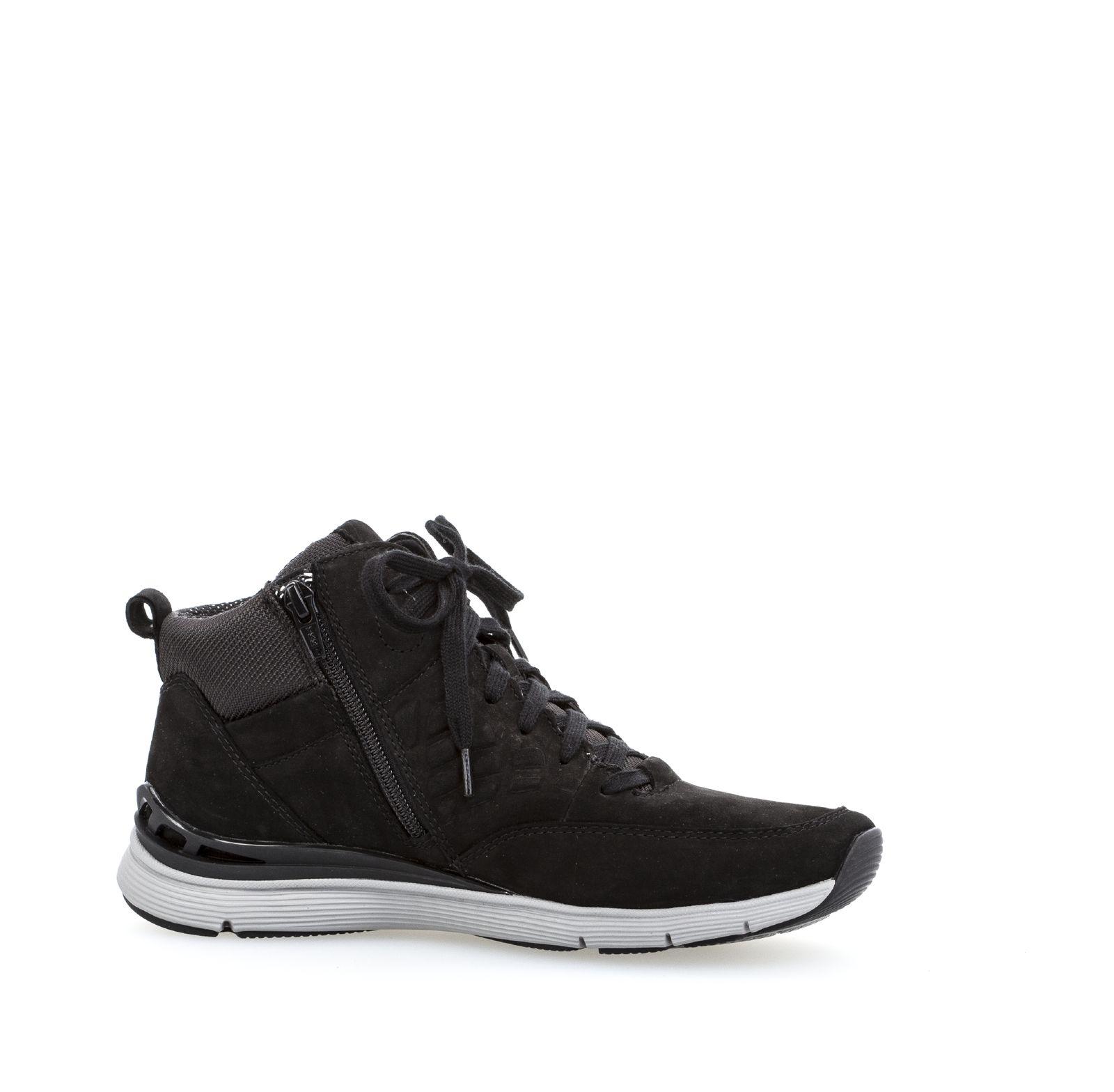 gabor damen sneaker mid schwarz damenschuhe sneaker. Black Bedroom Furniture Sets. Home Design Ideas