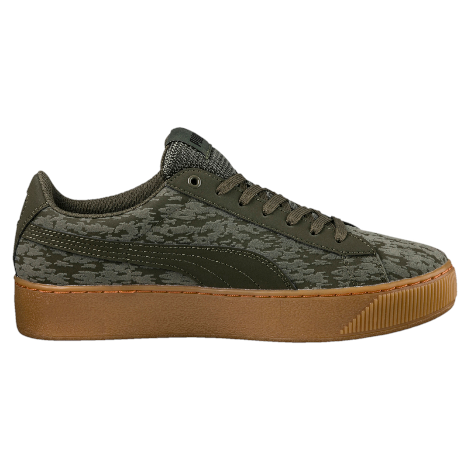 puma damen sneaker vikky platform vr 363730 0001 olive. Black Bedroom Furniture Sets. Home Design Ideas