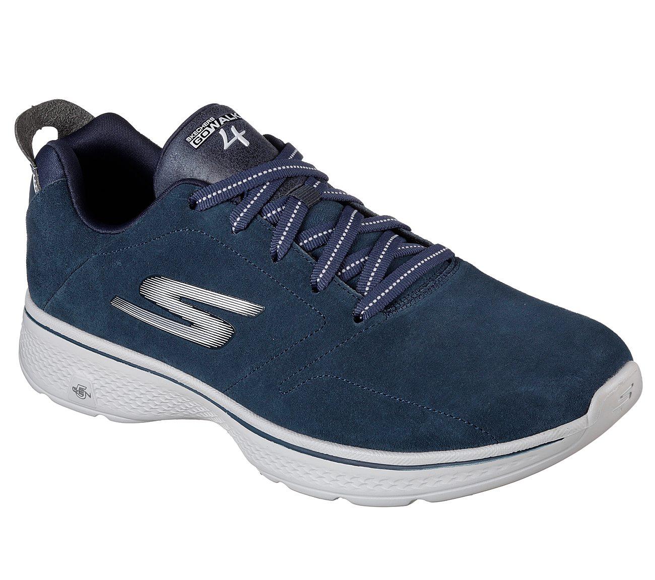 Skechers Herren Sneaker GO WALK 4 Art.Nr. 54165/NVGY blau/grau