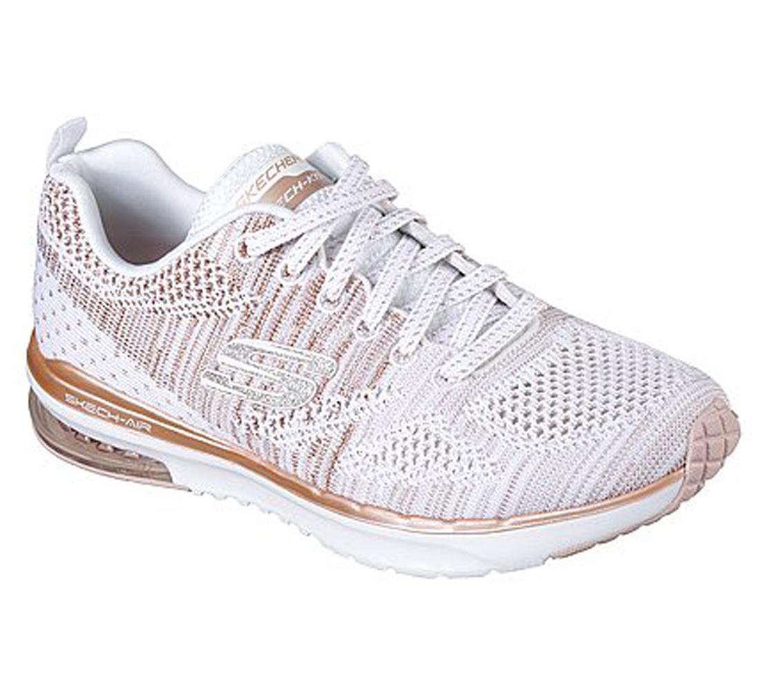 Skechers Damen Sneaker SKECH-AIR INFINITY STAND OUT 12114/WTRG weiß