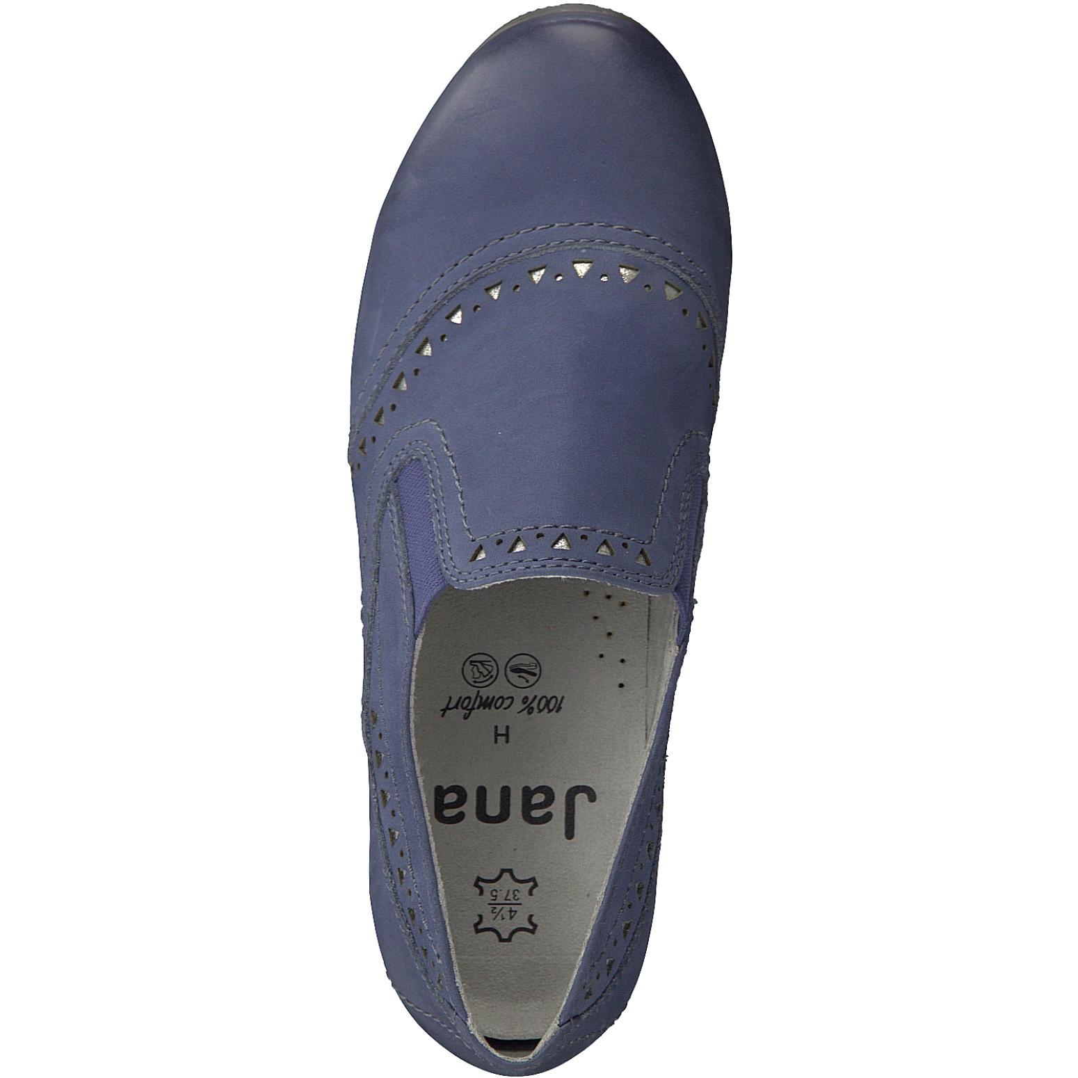 704621b1479a JANA Damen Hochfront Pumps 8-24320-20-846 jeans blau Damenschuhe Pumps