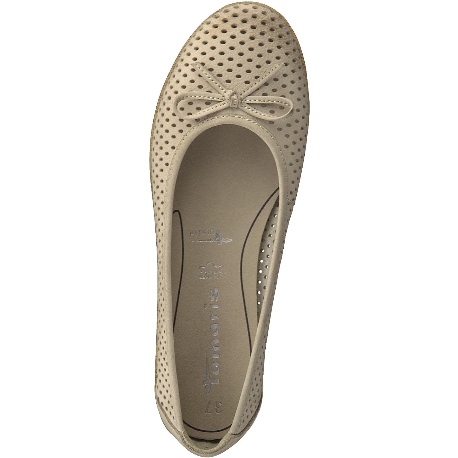 detailed look 79edc 40cbc Tamaris Damen Ballerina 1-22121-20-375 antelope beige