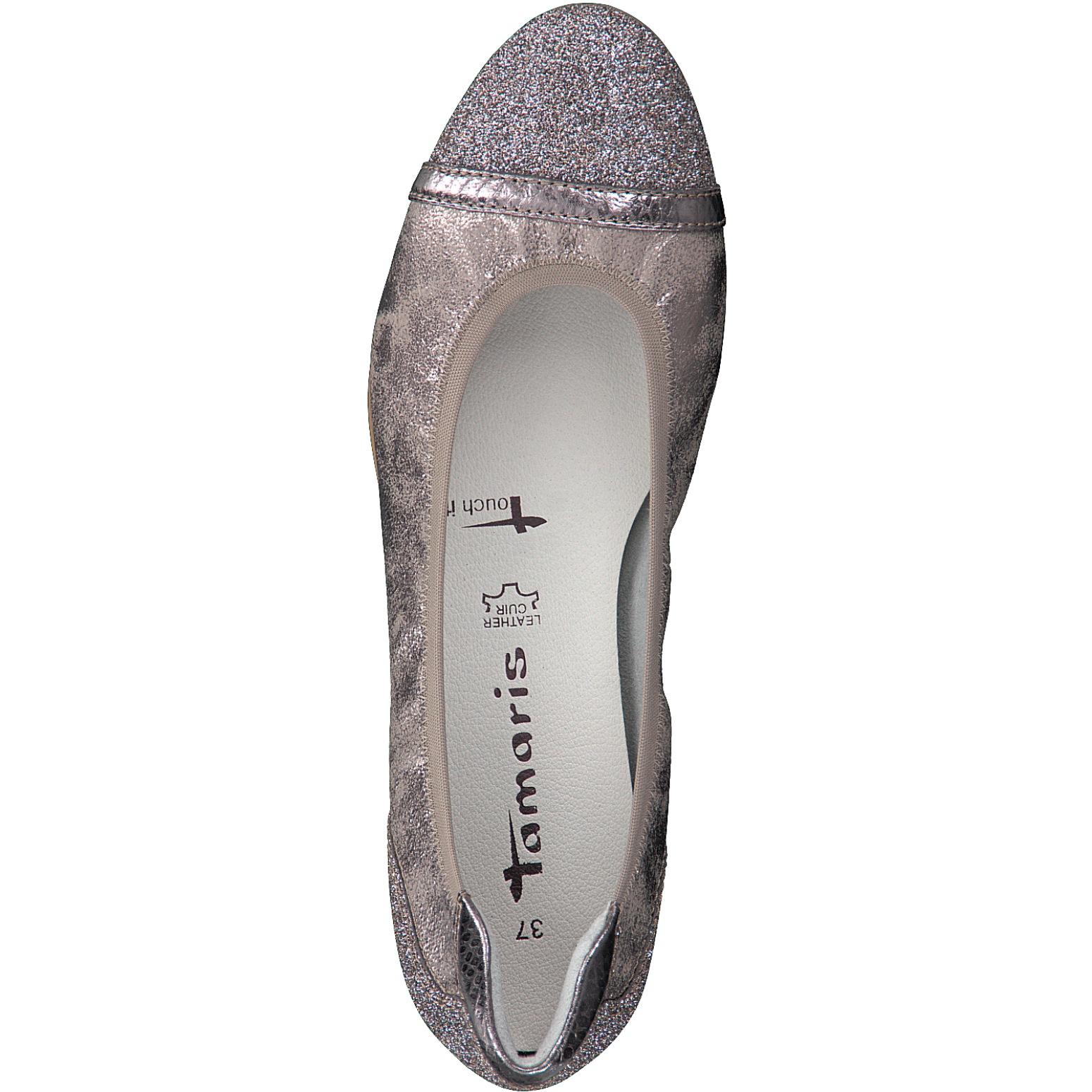 half off 6c9e8 88f90 Tamaris Damen Ballerina 1-22139-20-301 pepper metallic