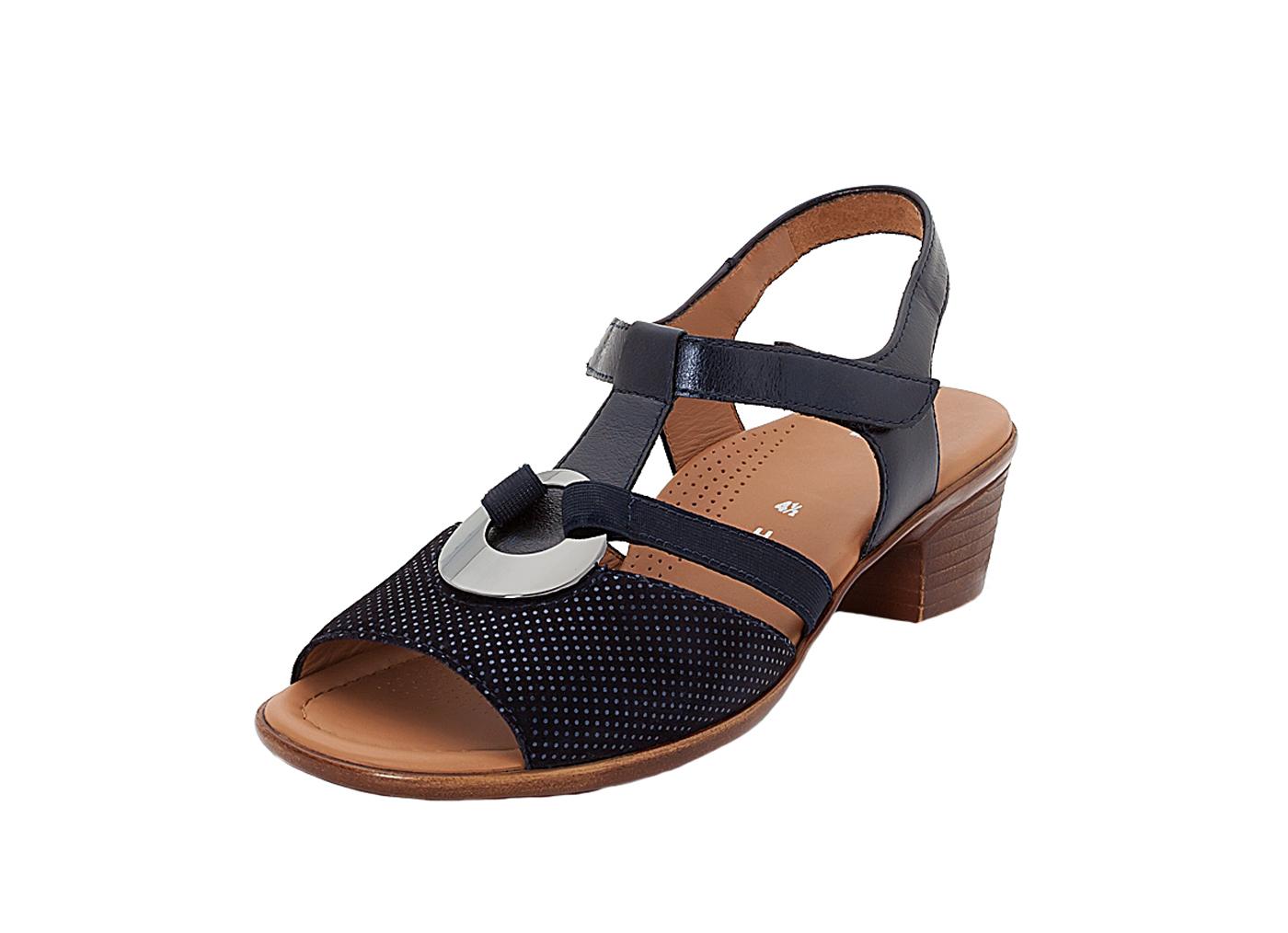 ara Damen Sandalette 12-35715-14 blau Damenschuhe Sandalen   Sandaletten c2a4bc17ce