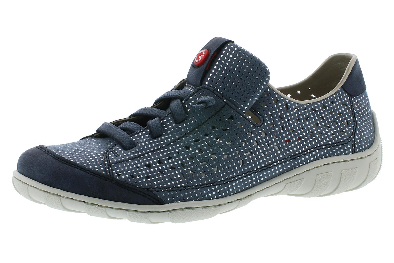 Rieker Sneaker Atlantis 15 M3709 Damen Blau Damenschuhe q4rq7Fw