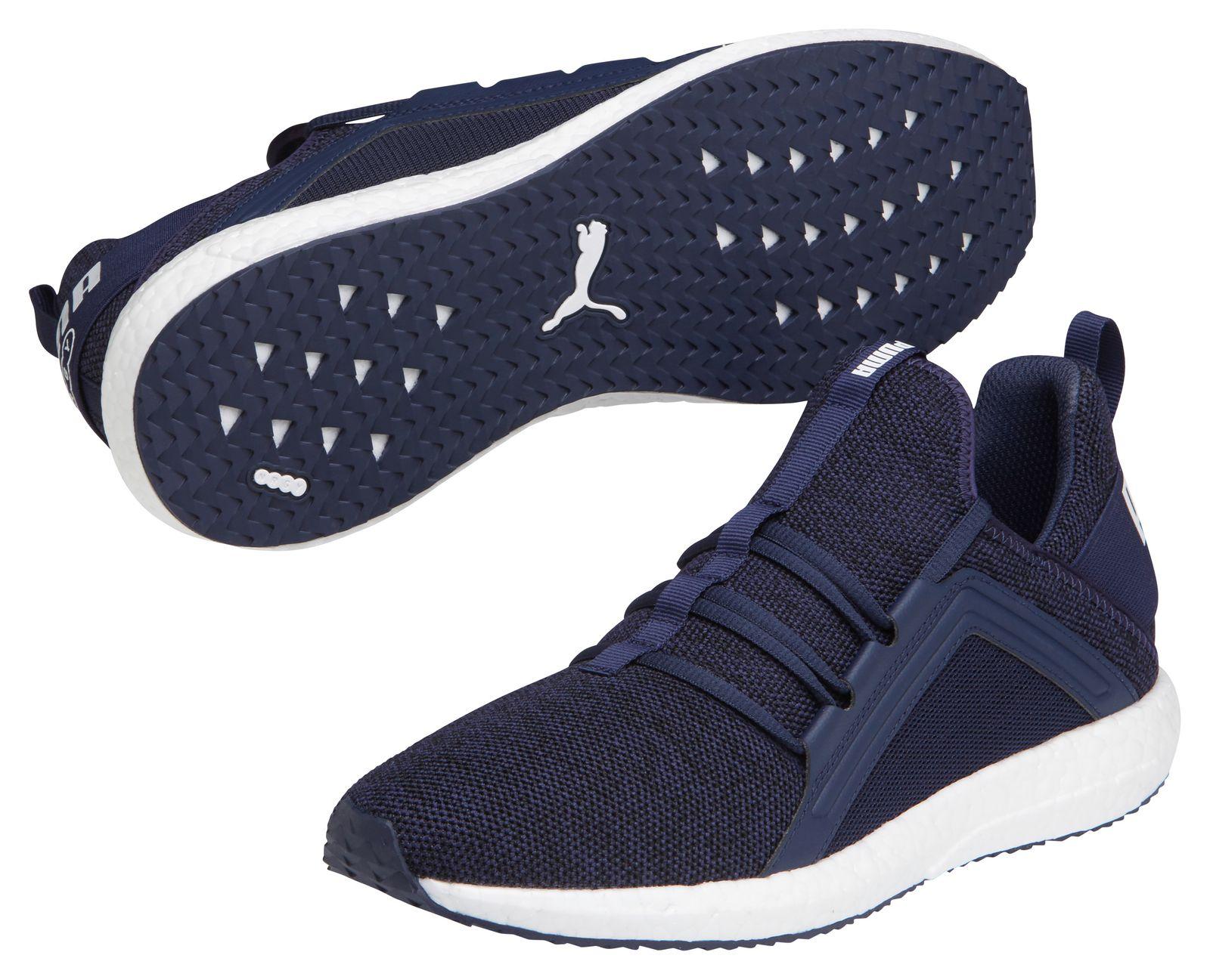 Puma Mega NRGY Knit Herren Laufschuhe Sneaker schwarz