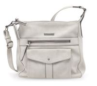 Tamaris Damen ADRIANA Hobo Bag S 2650181-204 light grey
