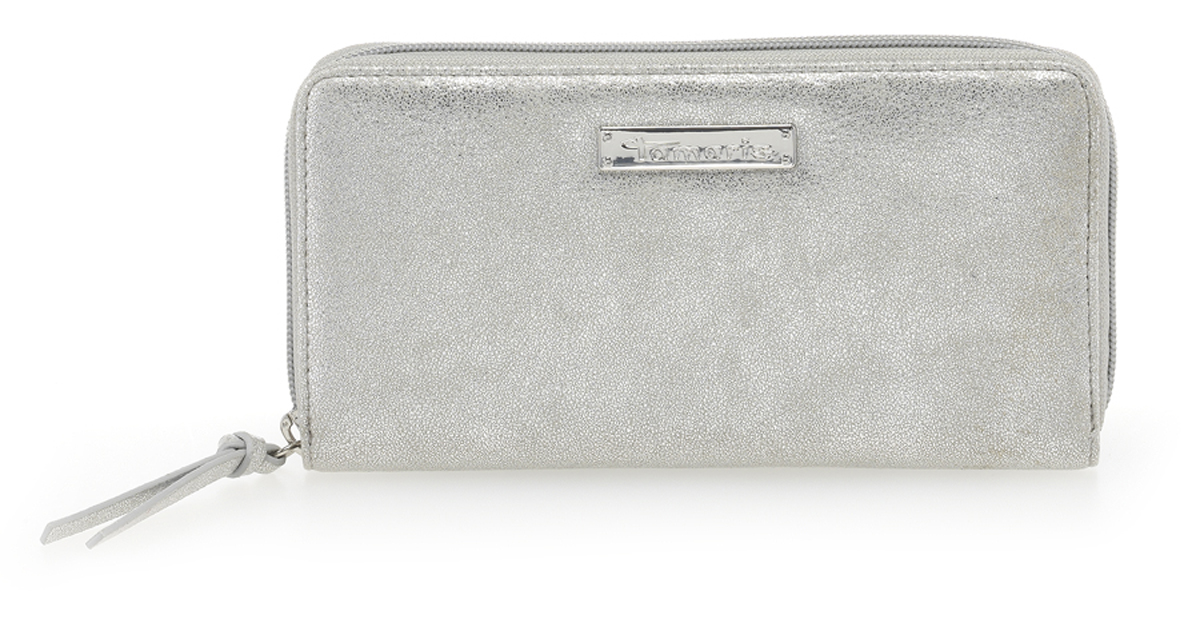 aea3f57ca34d Tamaris Damen DEBRA Big Zip Around Wallet 7085181-941 silver