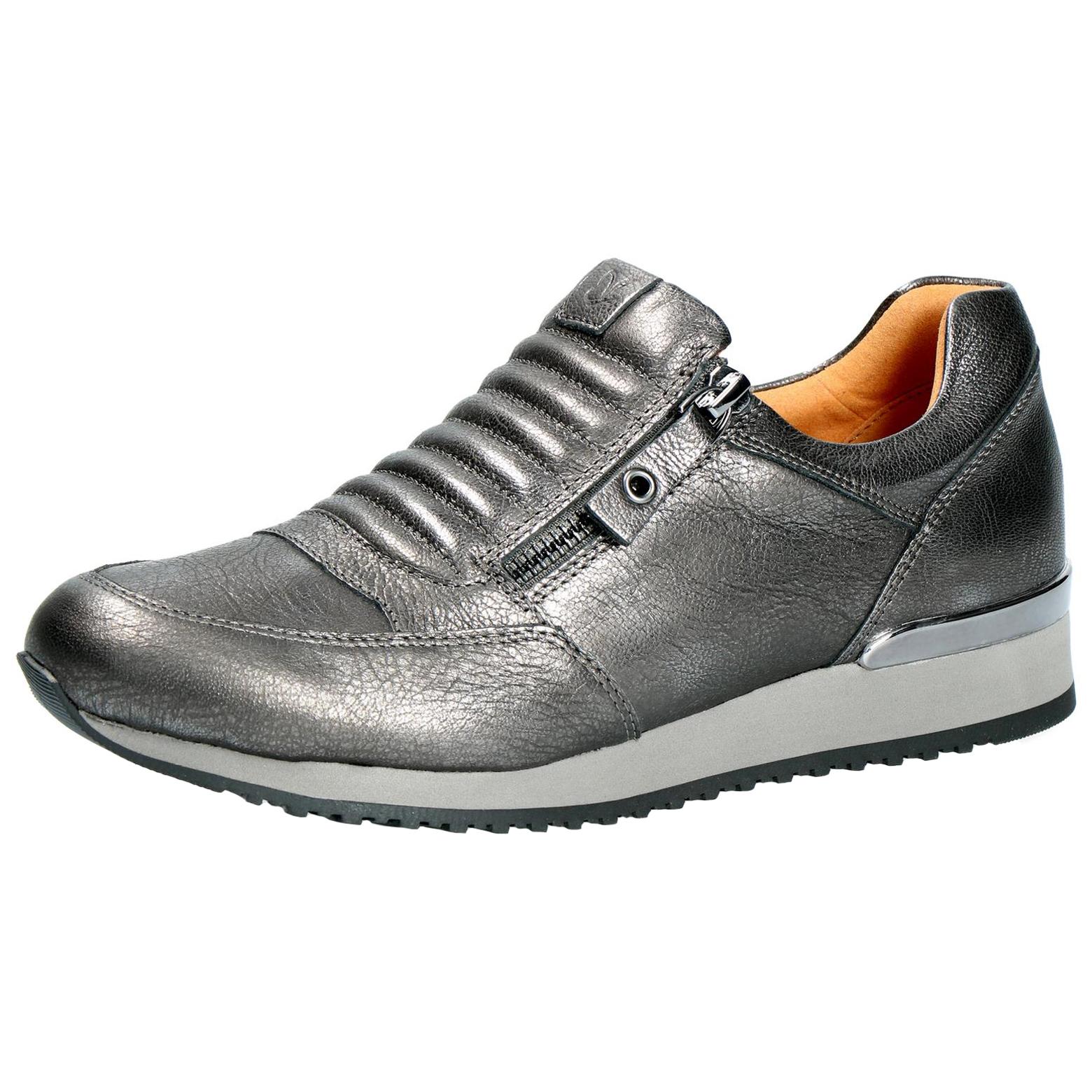 Caprice Damen Slipper 9-24605-21-202 dunkelgrau metallic Damenschuhe ... 2578c72637