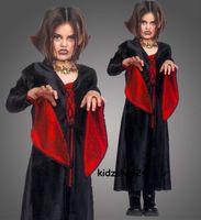 Halloween Kostüm Vampir Gothic Hexe Vampirin Gr. 116 - für die kleine Hexe in Gr. 116 -   1-teilig
