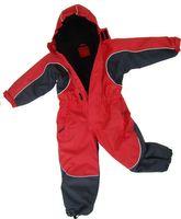 Roter Schneeanzug Overall -  Wasserdicht Atmungsaktiv mit abnehmbarer Kapuze - Obermaterial 100% Polyester,  Beschichtung 100% Polyurethan,  Wattierung 100% Polyester,  Futter 100% Polyester.