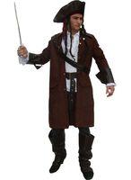 Piratenkostüm Kostüm Pirat Jack Gr. M L XL mit Hut und Zubehör Faschingskostüm Herren
