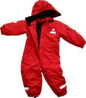 Hochwertiger Baby und Kinder Schneeoverall mit Kapuze - 5000 mmm Wassersäule und 5000 g/m²/24h, Atmungsaktiv, Obermaterial: 100% Polyester, Beschichtung: 100% Polyurethan, Wattierung: 100% Polyester, Futter: 100% Polyester.
