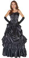 Barock Kostüm besteht aus Kleid und Handschuhe - 100% Polyester