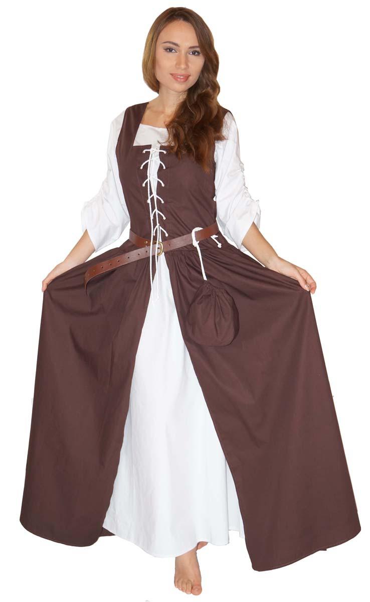 mittelalter kostüm magd bäuerin wirtin celia kleid - 100% baumwolle