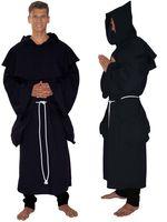 Kostüm Mittelalter Mönch schwarz 3tlg Bild 2