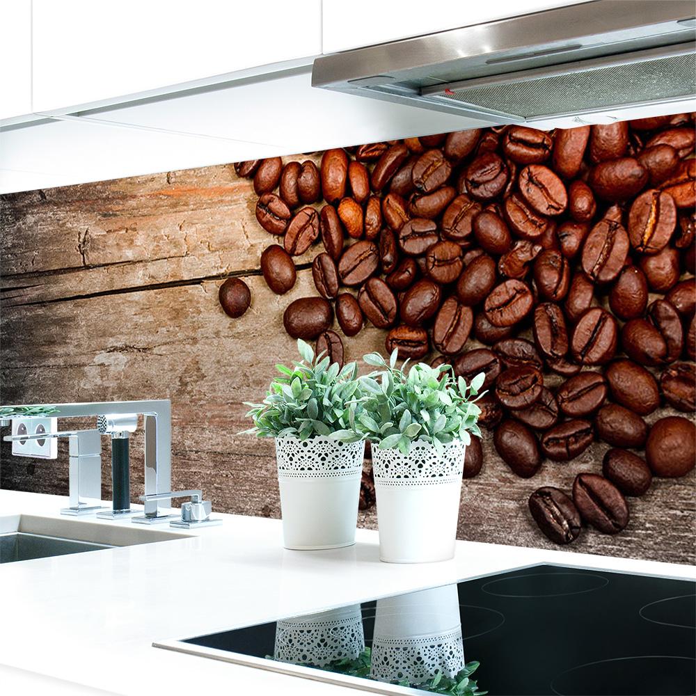 Kuchenruckwand Kaffee Bohnen Premium Hart Pvc 0 4 Mm Selbstklebend Direkt Auf Die Fliesen Motivart Kuchenruckwande