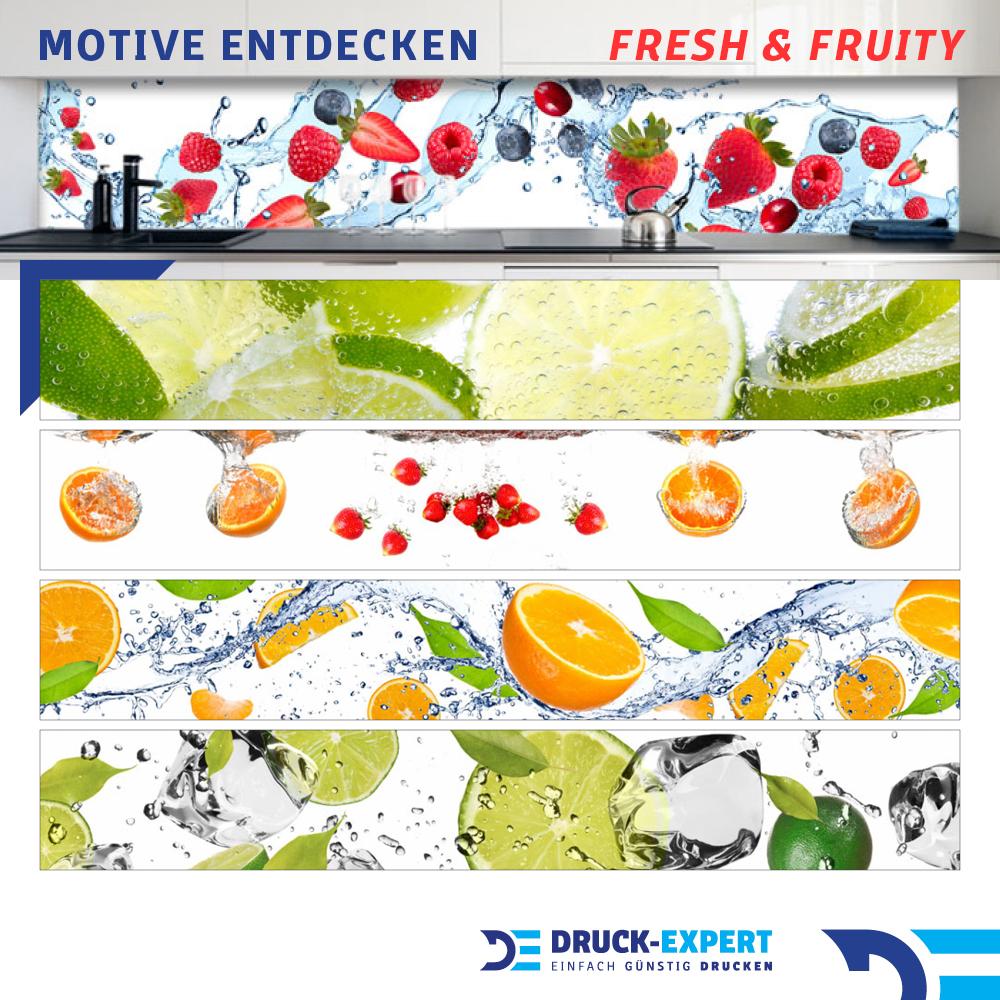 Kuchenruckwand Zitronen Wasser Premium Hart Pvc 0 4 Mm Selbstklebend