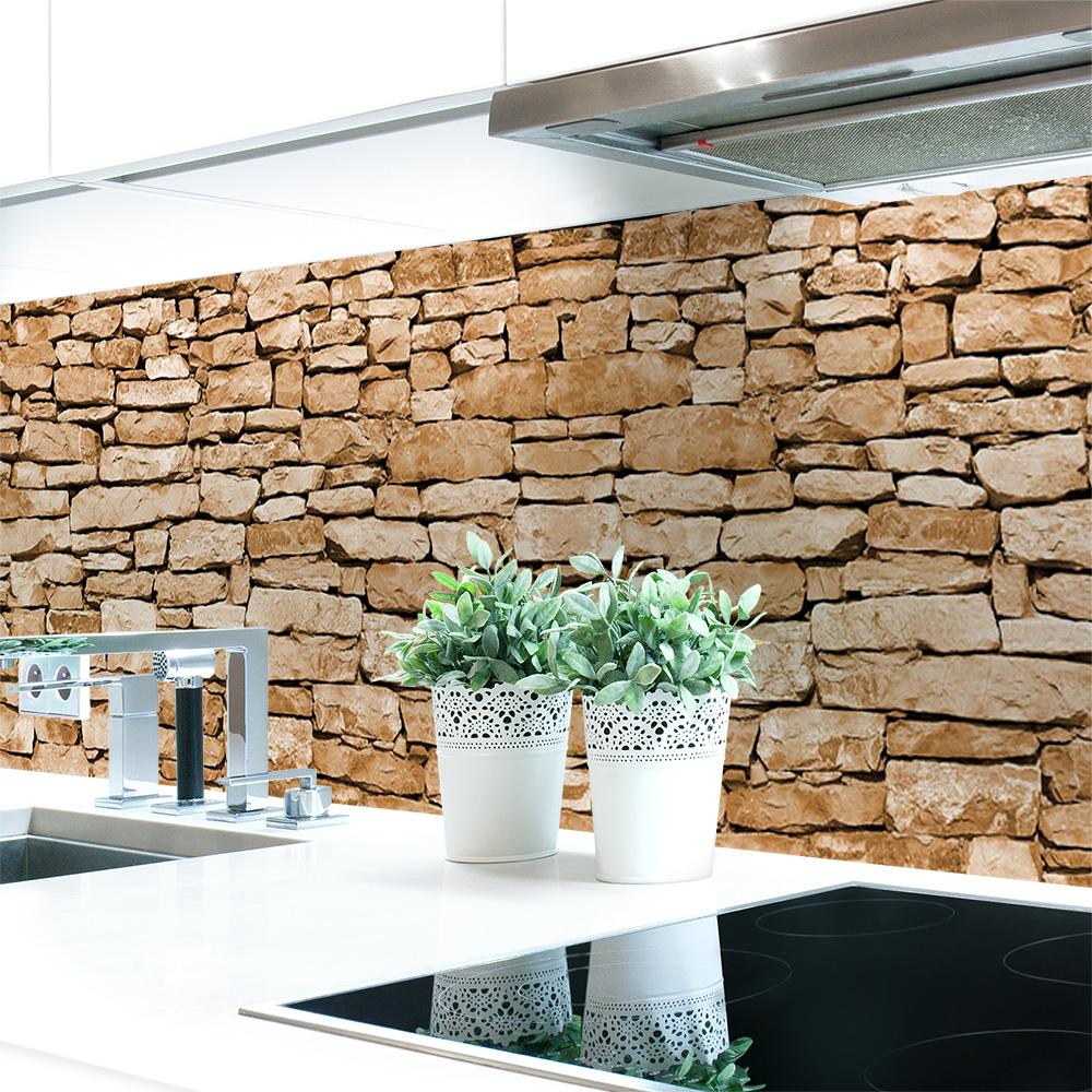Küchenrückwand Naturstein Braun Premium Hart-PVC 0,4 mm ...