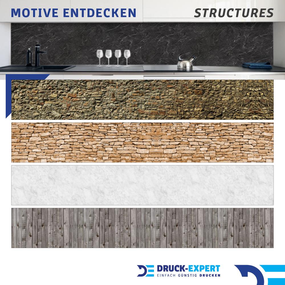 Küchenrückwand Holzwand Kräuter Premium Hart-PVC 0,4 mm selbstklebend
