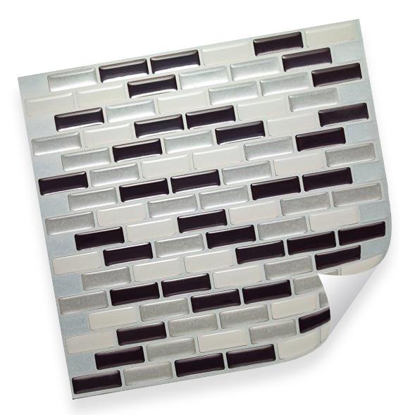 k chenr ckwand anthrazit silber 3d mosaik kacheln. Black Bedroom Furniture Sets. Home Design Ideas