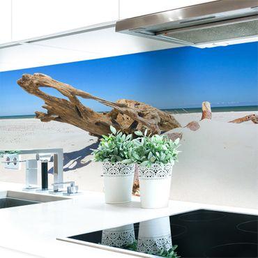 Küchenrückwand Baumstamm Strand Premium Hart-PVC 0,4 mm selbstklebend - Direkt auf die Fliesen
