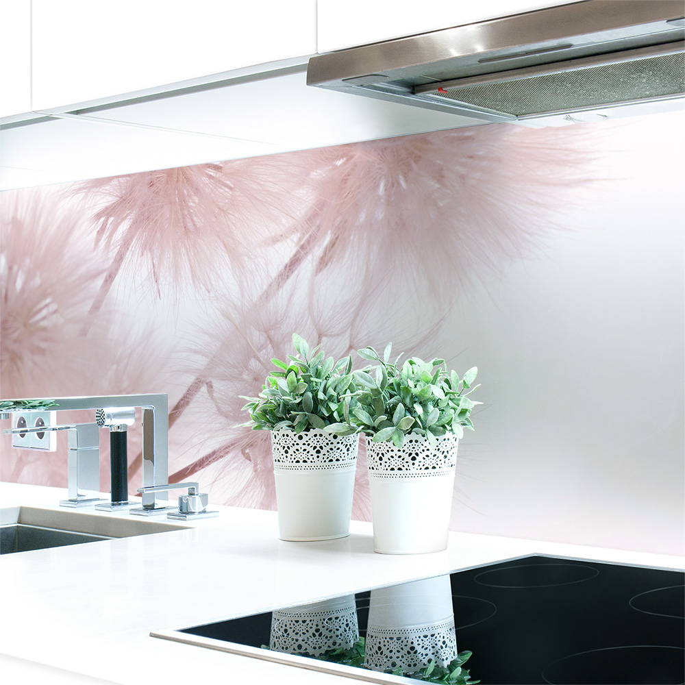 Kuchenruckwand Lowenzahn Rosa Premium Hart Pvc 0 4 Mm Selbstklebend