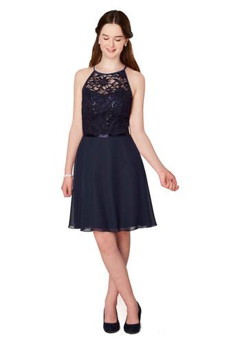 Weise Mädelz Chiffon Kleid mit Pailletten Spitze